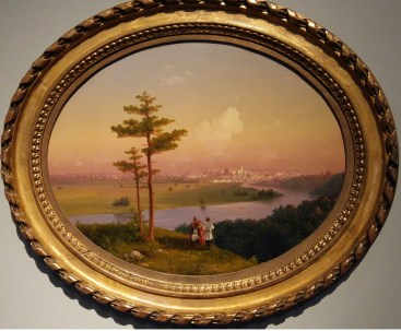 Ivan Aivazovsky - View of Moscow from the Sparrow Hills (1848). Oil on canvas.