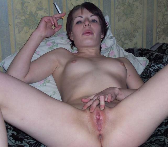 smoking tits Amateur big