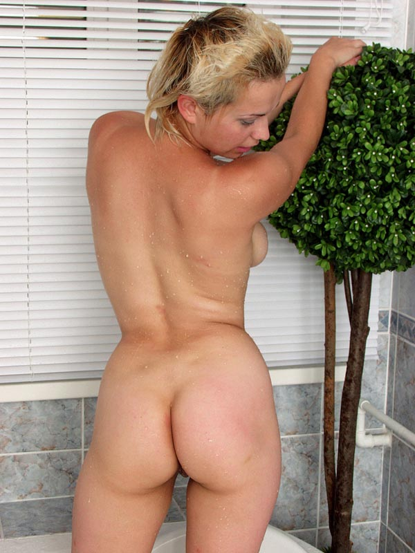 Busty short haired blonde having sex think, that