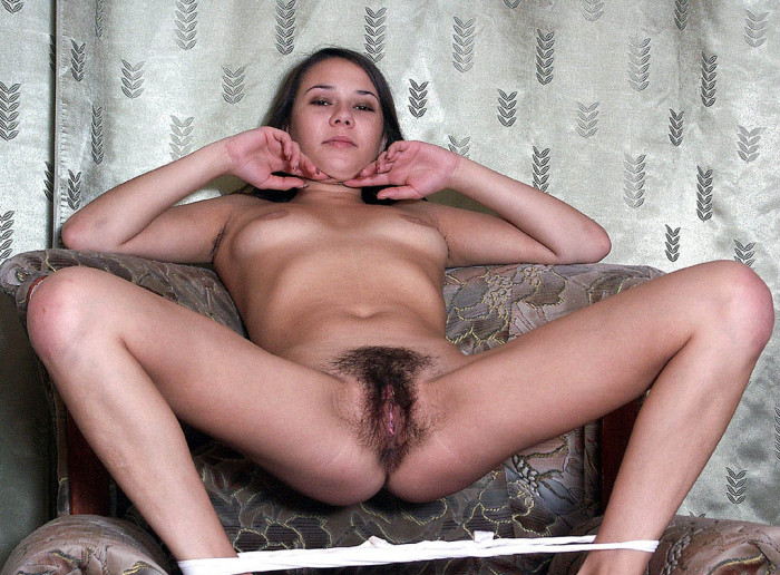 Sexy brunette young pussy
