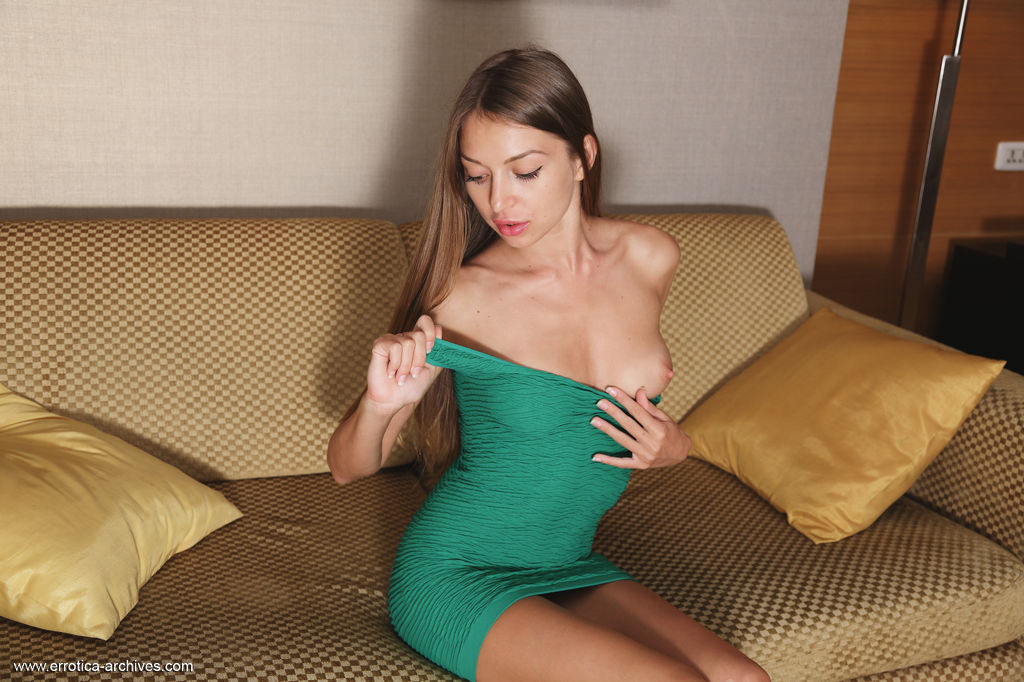 Leila Mazz Strips Her Dress As She Bares Her Petite, Tight Body, Tight Ass And Clean Smooth Pussy 2