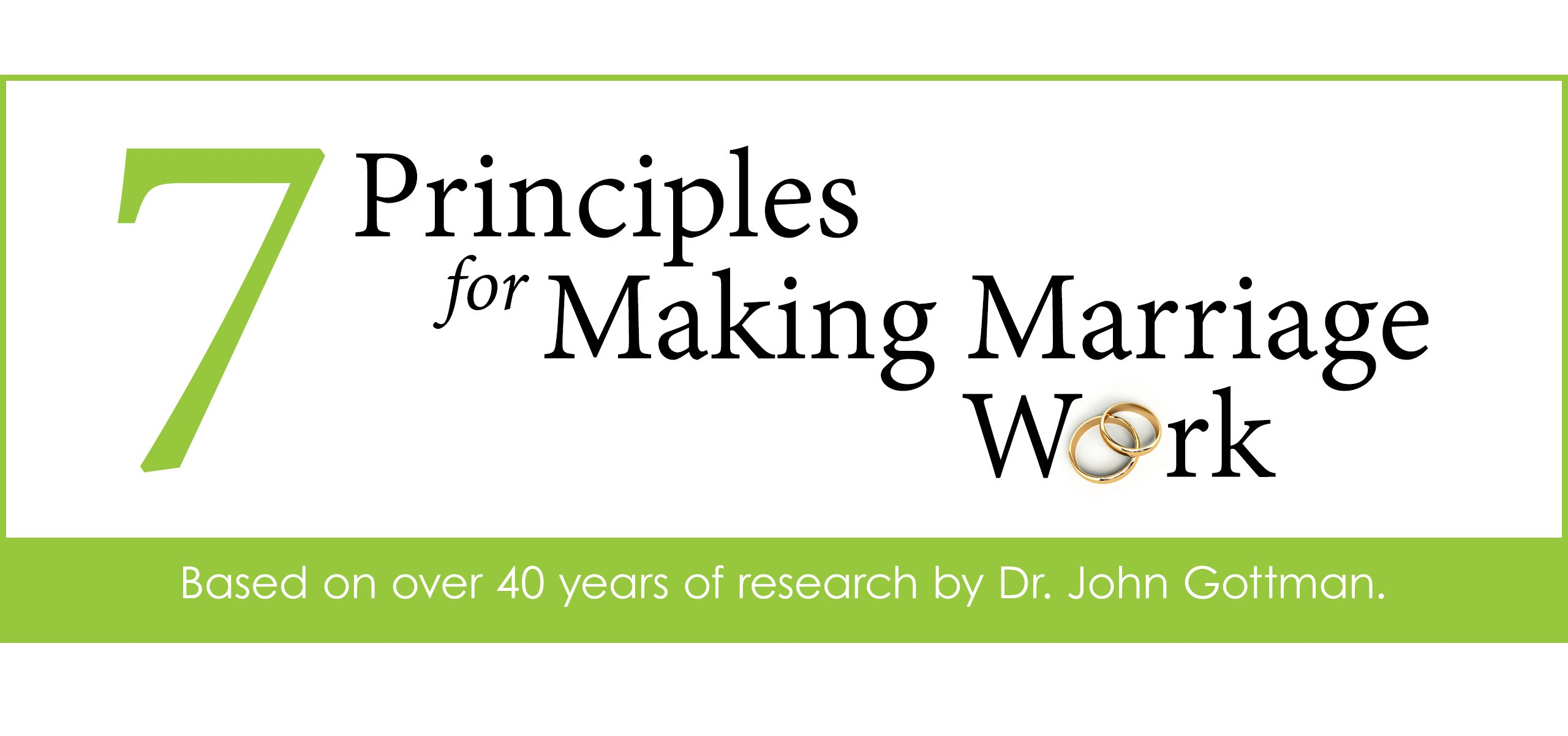 The 7 Principles – Making a Marriage Work