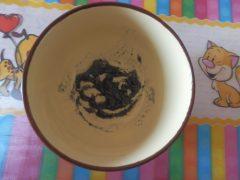 маска от черных точек с углем и желатином