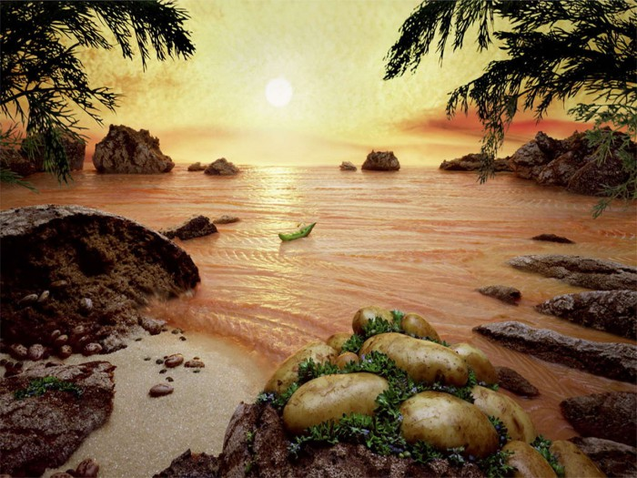 Карл Уорнер. Съедобные пейзажи.