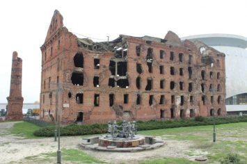 Wolgograd: Gerhardt Mühle, Ruine aus der Schlacht um Stalingrad