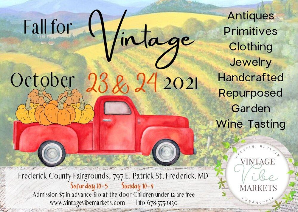 Vintage Vibe Market Frederick Maryland October 23rd & 24th