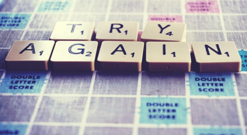 TRY AGAIN in Scrabble letter - as I try again with an Exercism task, this time using match.