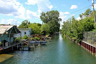 One of the canals dug by Jefferson-Chalmers residents in the 1920s to connect the neighborhood with the Detroit River