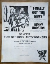 "'Benefit for Striking Auto Workers' event sponsored by 'Wildcat' and GM Strike Committee, featuring the film ""Final Got The News"" about Detroit's League of Revolutionary Black Workers."