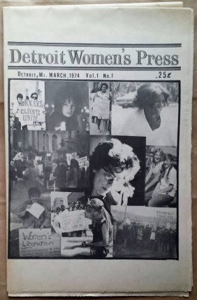 'Detroit Women's Press', Detroit, 1974. First issue.