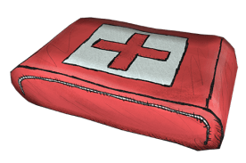 First aid health pack.
