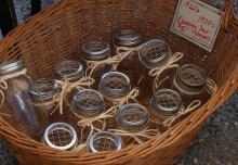 vintage canning jars turned flower vases