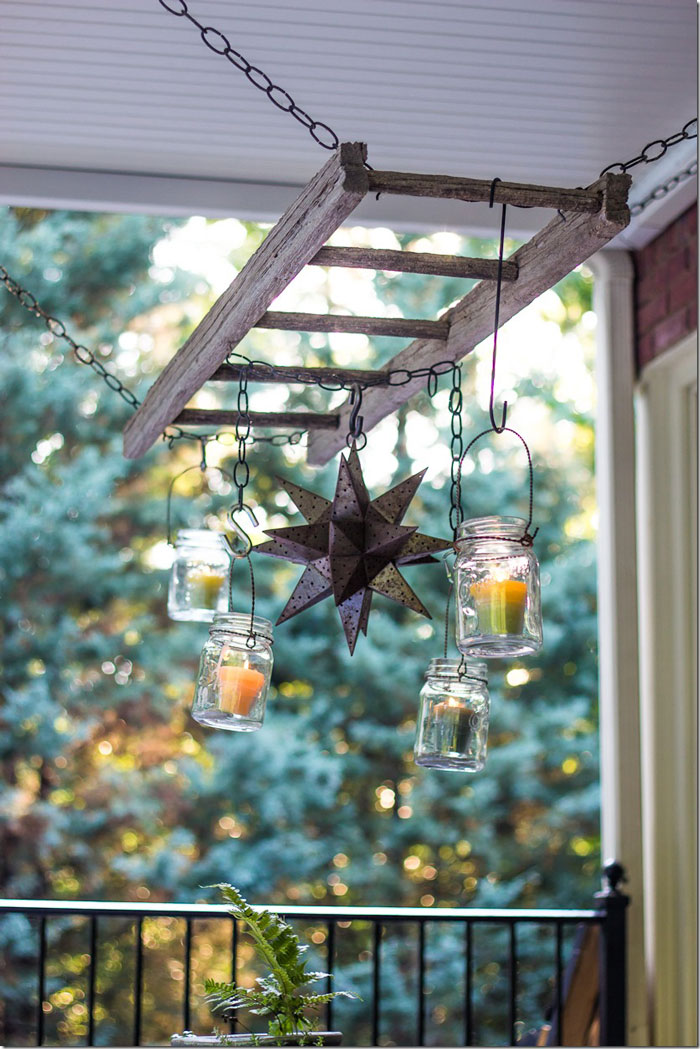 Decorating With Ladders Both Inside And Out Rustic