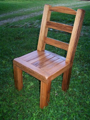 rustic red oak chairs ~ $150 ~