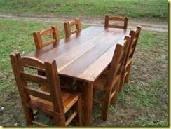 another rustic farm table 7×3