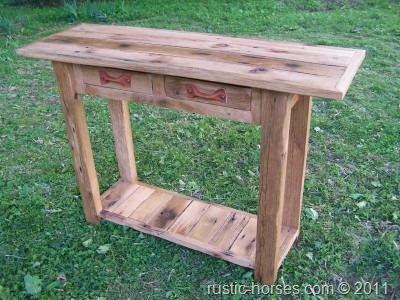 This Is A Rustic Sofa Table/console Table/foyer Table. Call It What You  Like, It Looks Great! Built From Reclaimed Barn Wood From An Outbuilding At  The ...
