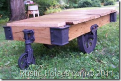 another Lineberry Factory Cart coffee table- Sold but we are working on more