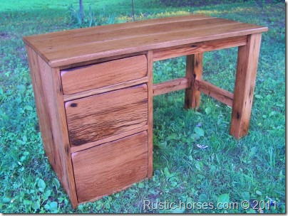 barn wood desk