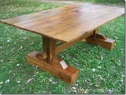 mission style trestle table