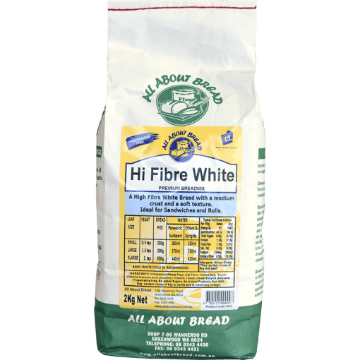 All About Bread Hi Fibre White Breadmix 2kg