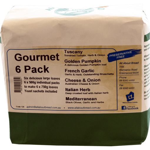 Gourmet 6 Pack Loaves Breadmix