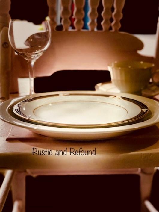 plates n pink