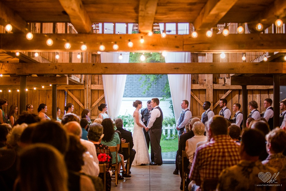 Rustic Wedding Ceremony Milestone Barn