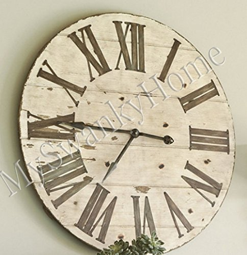 Large 36″ Lanier Rustic Wood Wall Clock