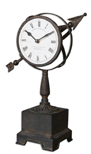 Uttermost 06089 Rustic Armillary Table Clocks