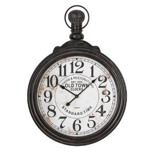 39″ Pocket Watch Style Large Wall Clock
