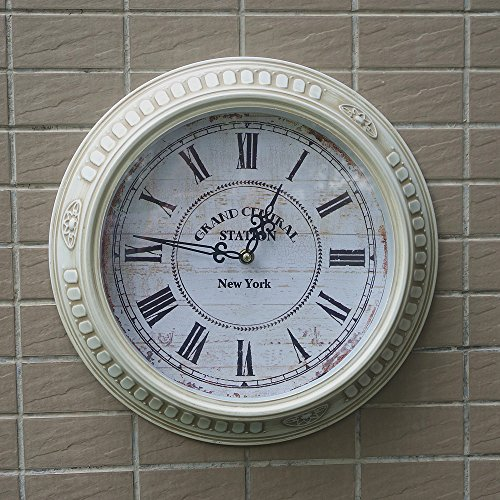 Handmade 14″ Fashion Single Rustic Vintage Antique Big Iron Wall Clock,Wall Watch On The Wall