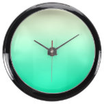 Trendy Teal to Vintage White Ombre Gradient Aquarium Clocks