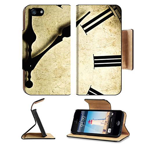 Apple iPhone 5 5S 5S Flip Case Close up of an old fashioned wall clock Studio work 9115973 by MSD Customized Premium Deluxe Pu Leather generation Accessories HD Wifi 16gb 32gb Luxury Protector Case