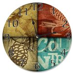 The Stupell Home Decor Collection Wall Clock, Rustic Wildlife Moose