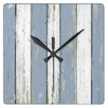 Rustic Blue Driftwood Wall Clocks