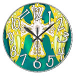 Western Cross, Bling, Yellow Green Leather Look