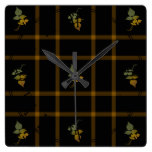 Abstract Vintage Wallpaper Square Wallclocks