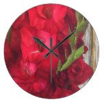 Red Gladiolas Wallclock
