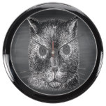 Steampunk Cat Black Chalkboard Aquarium Clocks