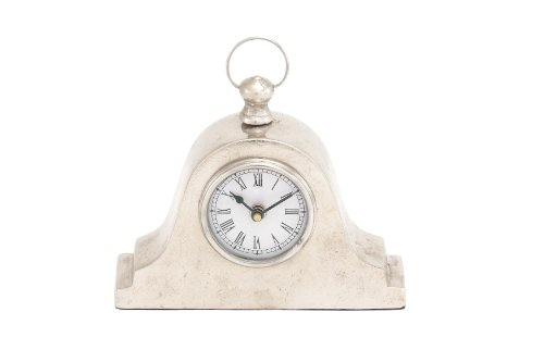 Deco 79 Aluminum Table Clock, 9 by 8-Inch