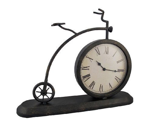 Industrial Chic Metal Bicycle Clock