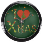 rustic,xmas,christmasl,cute,hipster,girly,vintage, fish tank clock