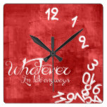 whatever, I'm late anyways – Rustic Red Wall Clock