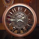 Foxtop 12 Inch New Arrival Hollow European-style Retro Fashion Creative Living Room Wall Clock, Arabic Numeral Display, Mute Quartz Digital Wall Clock Large Decoration for Home Office (Copper Color)