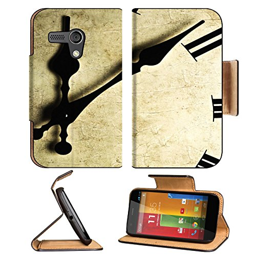Motorola G 1st Generation Flip Case Close up of an old fashioned wall clock Studio work 9115973 by MSD Customized Premium Deluxe Pu Leather generation Accessories HD Wifi 16gb 32gb Luxury Protector Case