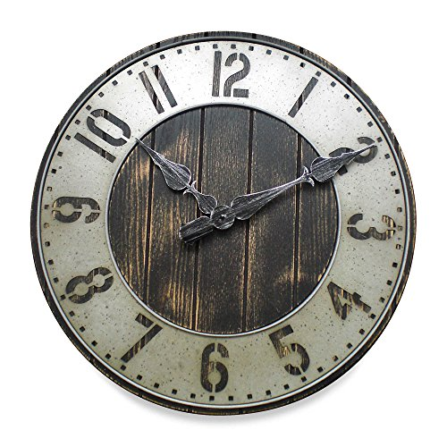 20–in Rustic Punched Metal Wall Clock