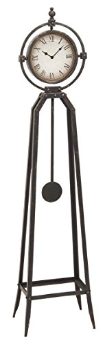 Aspire 68341 Rustic Metal Floor Clock with Pendulum