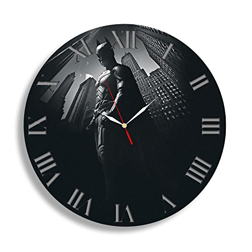Batman Dark Knight Gotham City Sticker Best Wall Clock – Decorate your home with New Modern Large Superhero Decal Art – Gift for friend, man and boy – Win a prize for a feedback