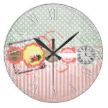 Beautiful Country Rustic Shabby Chic Wallclock