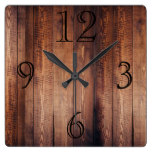 Gorgeous Dark Wood-look Wall Clock